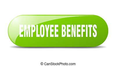 employee benefits button. sticker. banner. rounded glass sign
