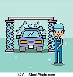 employee car wash service maintenance