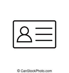 Employee clerk card, vcard vector icon illustration for graphic design, logo, web site, social media, mobile app, ui