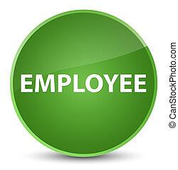 Employee elegant soft green round button