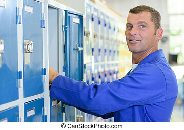 employee locker room