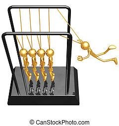 Employee Newton\'s Cradle - 3D Concept And Presentation...