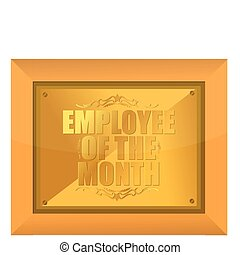 "Employee of the Month Award - Wooden ""Employee of the Month""..."