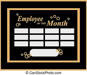 employee of the month frame template
