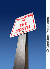 Employee of the Month - Employee of the month sign