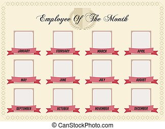 Employee of the month certificate template eps vectors search employee of the month pronofoot35fo Image collections