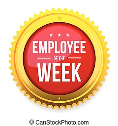 Employee of the week award badge