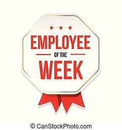 Employee of the Week badge