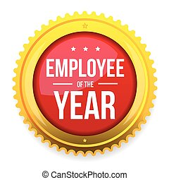 Employee of the year award badge