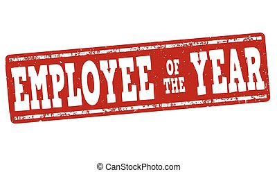 employee of the year certificate template vector