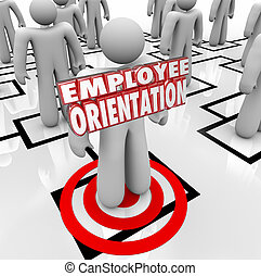 Employee Orientation Words New Worker Organization Chart - ...