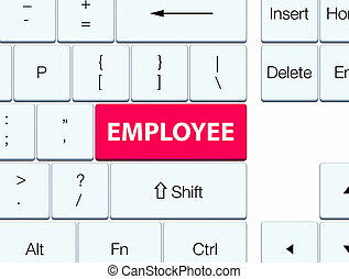 Employee pink keyboard button