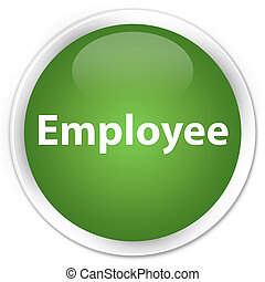 Employee premium soft green round button