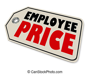 Employee Price Special Worker Discount Sale Amount