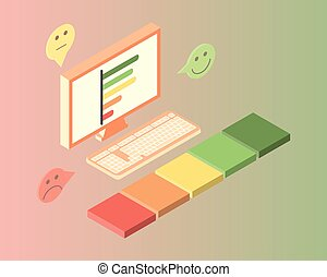 employee satisfaction survey and report vector