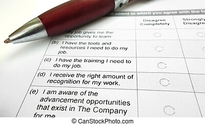 employee survey - Company employee opinion survey and pen...