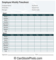 Employee Timesheet Template - An image of a employee...