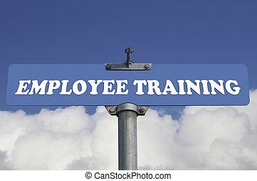 Employee training road sign