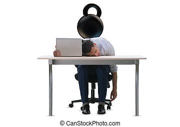 Employee with burden of work