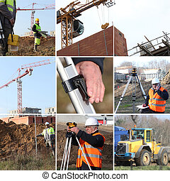 employees and building site