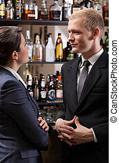 Employees in a pub after work