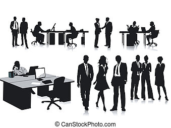 Employees in the office