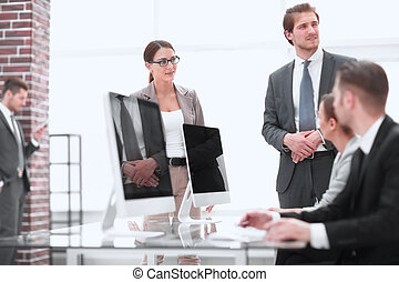 employees in the workplace in the office