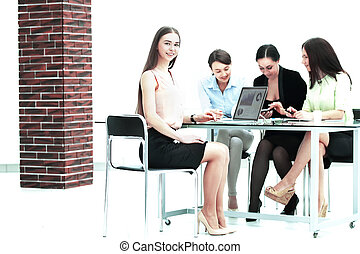 employees of the company making a financial report.