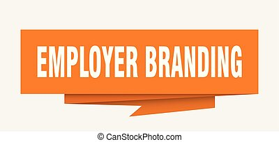 employer branding sign. employer branding paper origami...