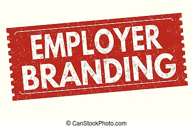 Employer branding sign or stamp