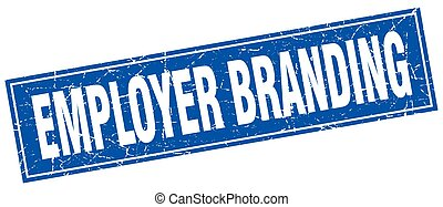 employer branding square stamp