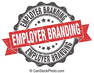 employer branding stamp. sign. seal