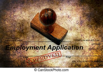 Employment application - approved grunge concept