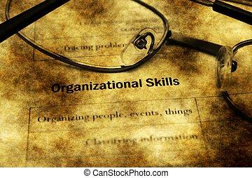 Employment application organizational skills