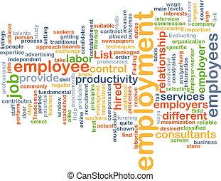 Employment background concept