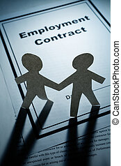 Employment Contract and Paper Chain Men