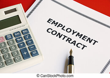 Employment Contract - Image of an employment contract on an...