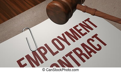 Employment Contract legal concept shot clip