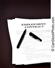 Employment Contract on Desk