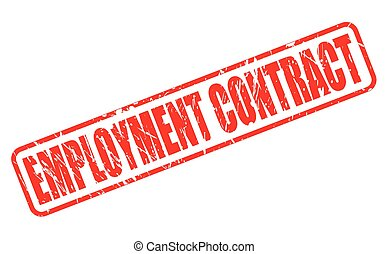 EMPLOYMENT CONTRACT red stamp text