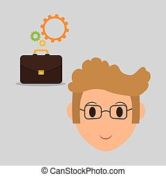 Employment design. Human resources icon. Isolated...