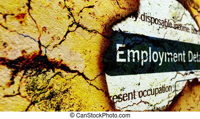 Employment details on paper hole