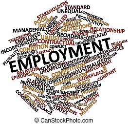 Employment - Abstract word cloud for Employment with related...