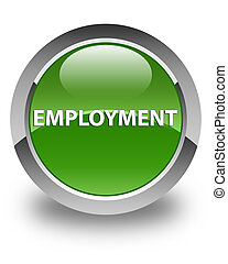 Employment glossy soft green round button