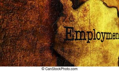 Employment grunge concept