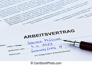 Employment in the German language
