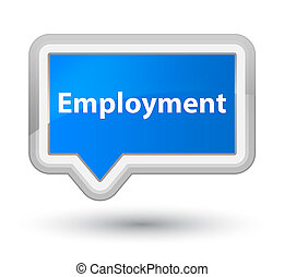 Employment prime cyan blue banner button