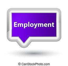 Employment prime purple banner button