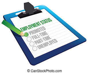 Employment Status clipboard