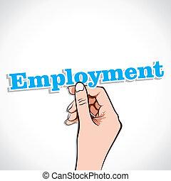 Employment Word In Hand